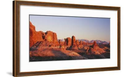 Utah, United States of America; the Garden of Eden Formations at Sunset in Arches National Park-Design Pics Inc-Framed Photographic Print