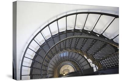 Spiral Stairway in Yaquina Head Lighthouse; Oregon United States of America-Design Pics Inc-Stretched Canvas Print