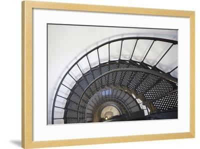 Spiral Stairway in Yaquina Head Lighthouse; Oregon United States of America-Design Pics Inc-Framed Photographic Print