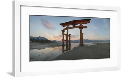 The 'Floating' Torii Gate of the Itsukushima Shinto Shrine, During Rising Tide-Macduff Everton-Framed Photographic Print