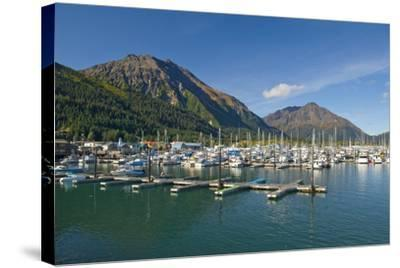 Scenic View of the Seward Small Boat Harbor on Resurrection Bay on a Sunny Day, Kenai Peninsula-Design Pics Inc-Stretched Canvas Print