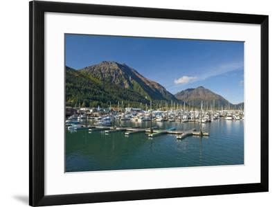 Scenic View of the Seward Small Boat Harbor on Resurrection Bay on a Sunny Day, Kenai Peninsula-Design Pics Inc-Framed Photographic Print