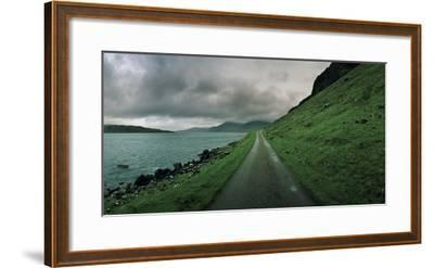 A Single Track Paved Road Along the Edge of Loch Na Keal-Macduff Everton-Framed Photographic Print