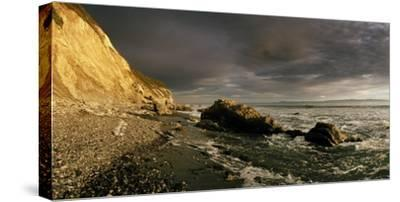 Sunset on Arroyo Burro Beach after a Storm-Macduff Everton-Stretched Canvas Print