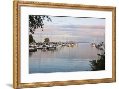 Boats in the Harbour at Sunset; Thunder Bay, Ontario, Canada-Design Pics Inc-Framed Photographic Print