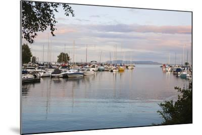Boats in the Harbour at Sunset; Thunder Bay, Ontario, Canada-Design Pics Inc-Mounted Photographic Print