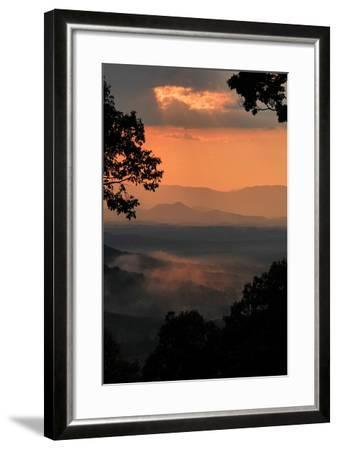 Sunset Colors a View of a Distant Mountain Range after a Rainstorm-Amy White and Al Petteway-Framed Photographic Print