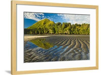 Scenic View of Tidal Flats at Low Tide at the Mouth of Monashka Creek on Kodiak Island, Alaska-Design Pics Inc-Framed Photographic Print