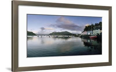 At Portree's Harbor, Colorful Buildings Line the Quay and Boats Drift at Anchor-Macduff Everton-Framed Photographic Print