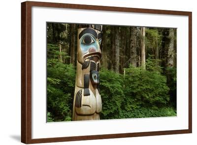 Closeup of Totem Pole Near Sitka Ak on Baranof Island, Tongass National Forest Southeast Summer-Design Pics Inc-Framed Photographic Print