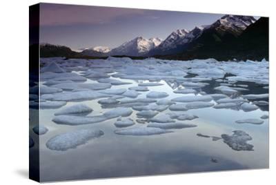 Icebergs on Lake George Chugach Mtns Sc Ak Summer-Design Pics Inc-Stretched Canvas Print