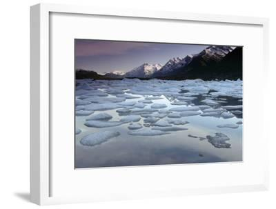 Icebergs on Lake George Chugach Mtns Sc Ak Summer-Design Pics Inc-Framed Photographic Print