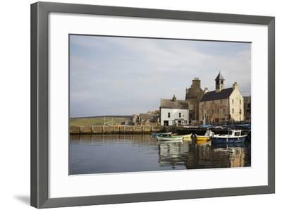 Village Houses and Boats in Harbor-Design Pics Inc-Framed Photographic Print