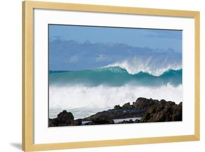 Hawaii, Maui, Laperouse, Beautiful Blue Ocean Wave-Design Pics Inc-Framed Photographic Print