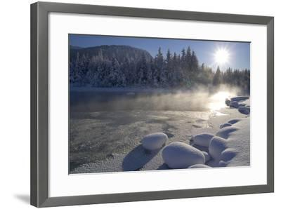 Mendenhall River Flowing Through Snow Covered Tongass National Forest Juneau Alaska Winter-Design Pics Inc-Framed Photographic Print