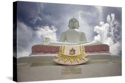 Low Angle View of Buddha and Temple; Phra Buddhasurintaramongkol, Isan, Thailand-Design Pics Inc-Stretched Canvas Print