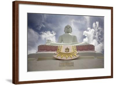 Low Angle View of Buddha and Temple; Phra Buddhasurintaramongkol, Isan, Thailand-Design Pics Inc-Framed Photographic Print