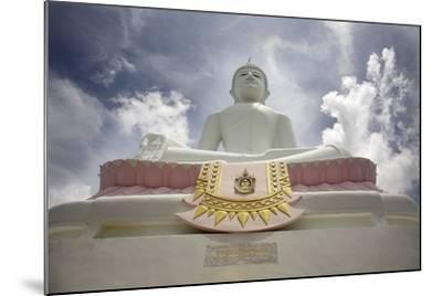 Low Angle View of Buddha and Temple; Phra Buddhasurintaramongkol, Isan, Thailand-Design Pics Inc-Mounted Photographic Print