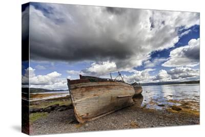 Weathered Boats Abandoned at the Water's Edge; Salem Isle of Mull Scotland-Design Pics Inc-Stretched Canvas Print