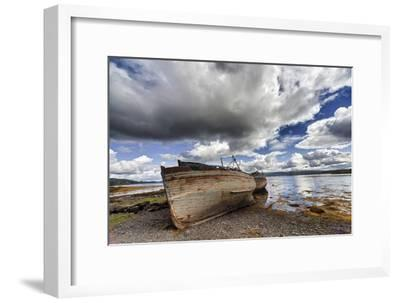 Weathered Boats Abandoned at the Water's Edge; Salem Isle of Mull Scotland-Design Pics Inc-Framed Photographic Print