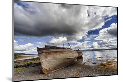 Weathered Boats Abandoned at the Water's Edge; Salem Isle of Mull Scotland-Design Pics Inc-Mounted Photographic Print