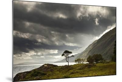 Sunlight Shingin Through the Storm Clouds over the Water Along the Coastline-Design Pics Inc-Mounted Photographic Print