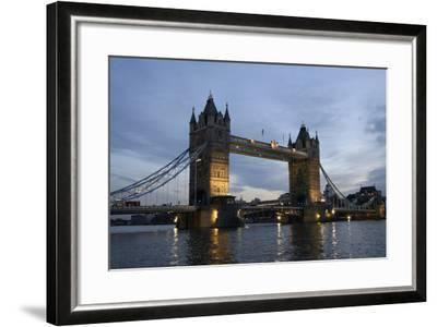 Tower Bridge and River Thames at Dusk, London,England,Uk-Design Pics Inc-Framed Photographic Print