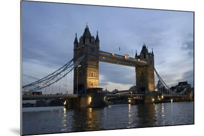 Tower Bridge and River Thames at Dusk, London,England,Uk-Design Pics Inc-Mounted Photographic Print
