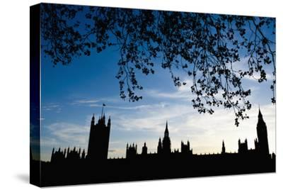 Houses of Parliament Silhouette, London, Uk Dosfotos-Design Pics Inc-Stretched Canvas Print