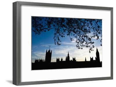 Houses of Parliament Silhouette, London, Uk Dosfotos-Design Pics Inc-Framed Photographic Print
