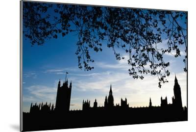 Houses of Parliament Silhouette, London, Uk Dosfotos-Design Pics Inc-Mounted Photographic Print
