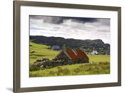 Isle of Colonsay, Scotland; Stone Farmhouse and Surrounding Field-Design Pics Inc-Framed Photographic Print