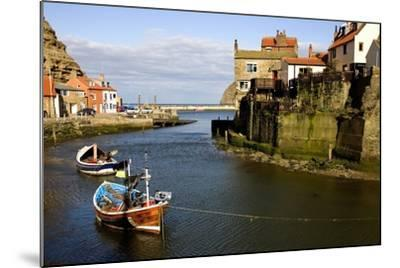 Moored Boats in Staithes; North Yorkshire, England, Uk-Design Pics Inc-Mounted Photographic Print
