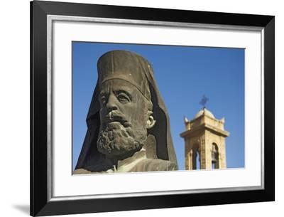 Archbishop Makarios Statue Outside Archbishopic Palace, Close Up-Design Pics Inc-Framed Photographic Print