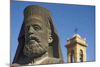 Archbishop Makarios Statue Outside Archbishopic Palace, Close Up-Design Pics Inc-Mounted Photographic Print