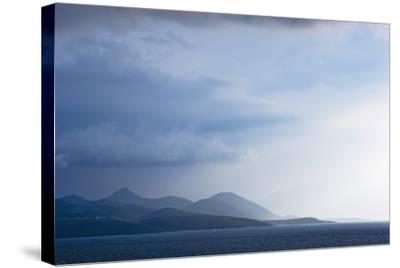 Fading Seascape of Ioninan Islands at Sunset, Ioninan Islands,Greece-Design Pics Inc-Stretched Canvas Print