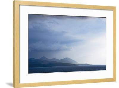 Fading Seascape of Ioninan Islands at Sunset, Ioninan Islands,Greece-Design Pics Inc-Framed Photographic Print