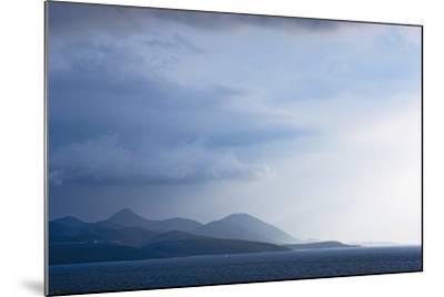 Fading Seascape of Ioninan Islands at Sunset, Ioninan Islands,Greece-Design Pics Inc-Mounted Photographic Print