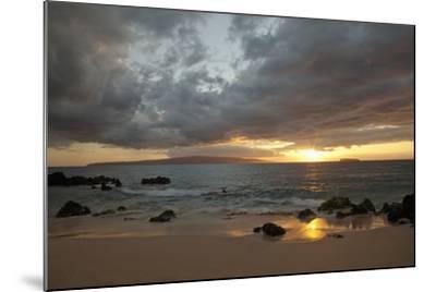 Hawaii, Maui, Makena, Cloudy Sunset at Big Beach-Design Pics Inc-Mounted Photographic Print