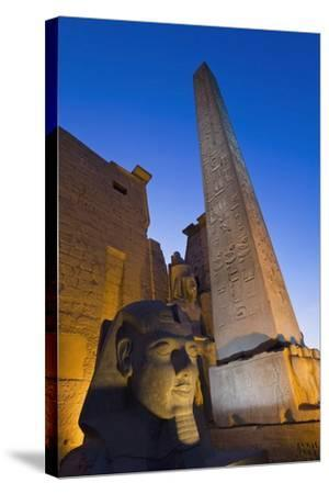 Large Pharaoh's Head Statue and Obelisk-Design Pics Inc-Stretched Canvas Print