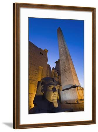 Large Pharaoh's Head Statue and Obelisk-Design Pics Inc-Framed Photographic Print