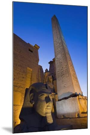 Large Pharaoh's Head Statue and Obelisk-Design Pics Inc-Mounted Photographic Print