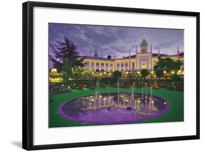 Nimb Brasserie, Tivoli Gardens, Copenhagen, Denmark; Amusement Park and Fountain-Design Pics Inc-Framed Photographic Print
