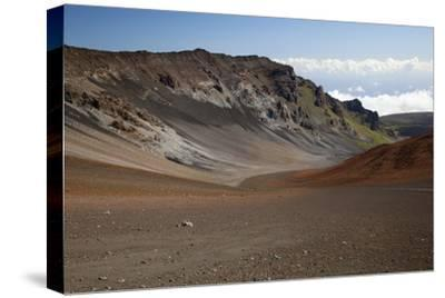 Hawaii, Maui, Haleakala Crater, Mountain and Dirt on the Crater's Floor-Design Pics Inc-Stretched Canvas Print