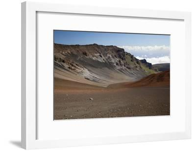 Hawaii, Maui, Haleakala Crater, Mountain and Dirt on the Crater's Floor-Design Pics Inc-Framed Photographic Print