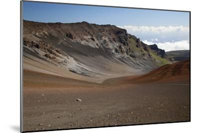 Hawaii, Maui, Haleakala Crater, Mountain and Dirt on the Crater's Floor-Design Pics Inc-Mounted Photographic Print