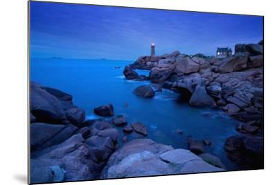 Small Lighthouse and House at Dusk-Design Pics Inc-Mounted Photographic Print