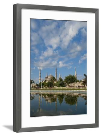 Looking across Pond to Sultanahmet or Blue Mosque-Design Pics Inc-Framed Photographic Print