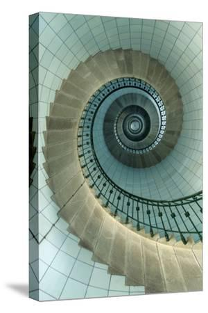 Looking Up the Spiral Staircase of the Lighthouse-Design Pics Inc-Stretched Canvas Print