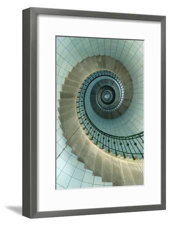 Looking Up the Spiral Staircase of the Lighthouse-Design Pics Inc-Framed Premium Photographic Print